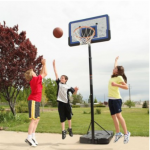lifetime 44 pro court height adjustable portable basketball hoop