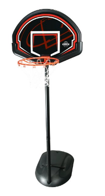 Youth height adjustable portable basketball hoop