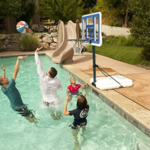 lifetime 1306 Pool Side Height adjustable portable basketball hoop