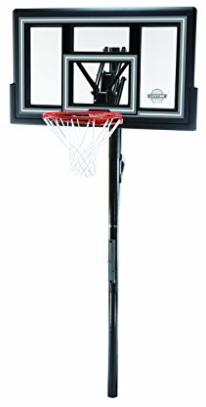 Lifetime 1084 Height Adjustable In-Ground Basketball System, 50 Inch Shatterproof Backboard