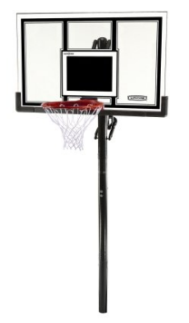 Lifetime 71525 Height Adjustable In Ground Basketball System, 54 Inch Shatterproof Backboard