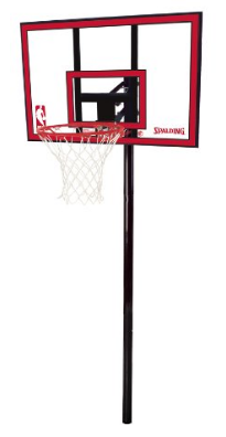 "Spalding NBA In-Ground Basketball System- 44"" Polycarbonate Backboard"