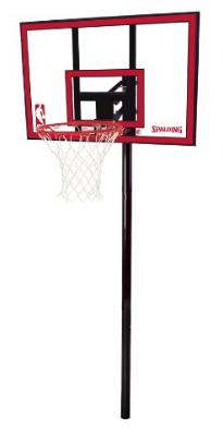 "Spalding NBA In-Ground Basketball System- 44"" Polycarbonate Backboard - In-Ground Basketball Hoop"