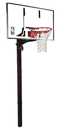 Spalding NBA In-Ground Basketball System - 54 Aluminum Trim Glass Backboard