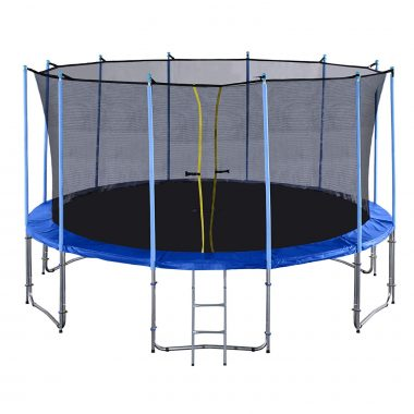 Exacme 16 Foot 6 Legs Trampoline Basketball Hoop with Safety Pad and Enclosure Net All-in-one