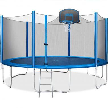 Merax 15 FT Kids Best Trampoline Basketball Hoop